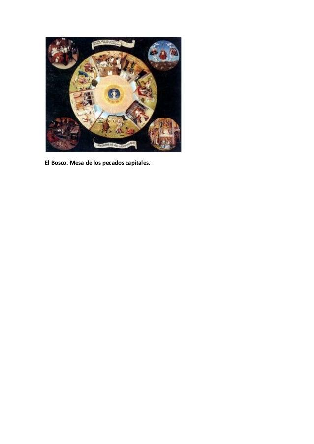 Dossier de obras de arte prehistoria barroco - La mesa de los pecados capitales ...