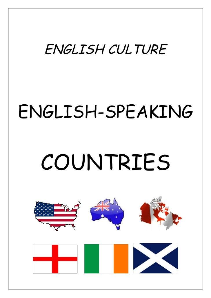 ENGLISH CULTUREENGLISH-SPEAKING  COUNTRIES