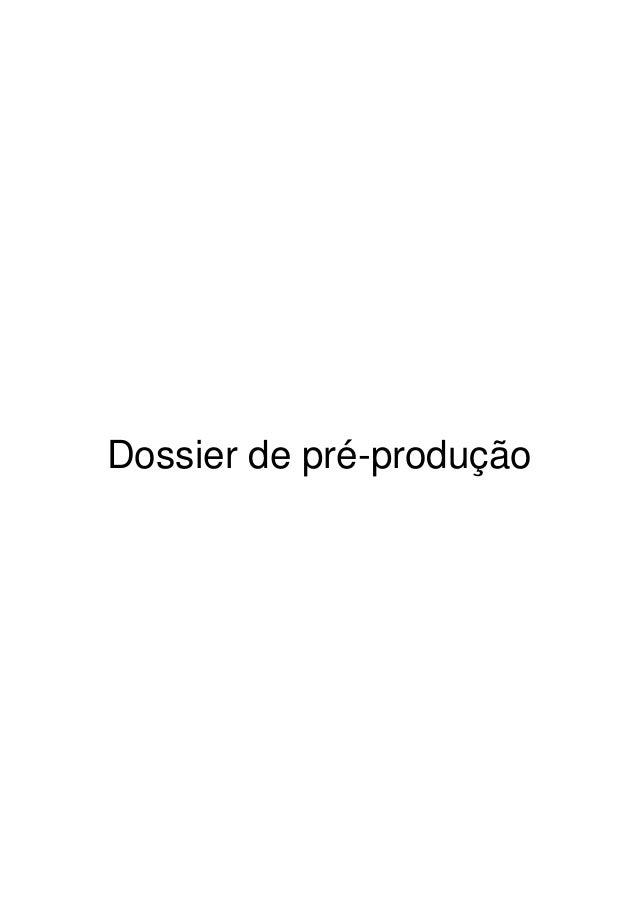 Dossier de pré-produção