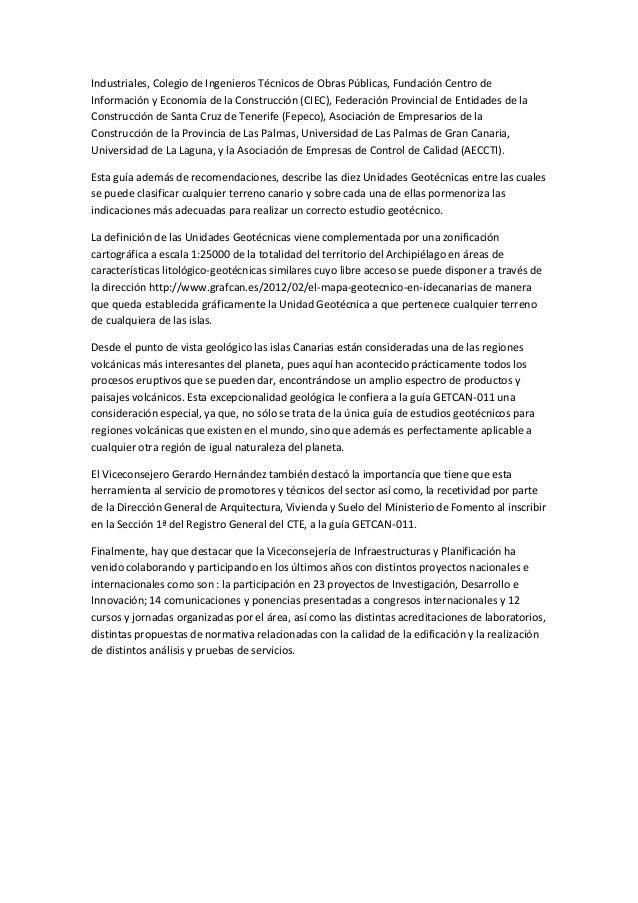 Dossier de prensa el hierro - Colegio de aparejadores de tenerife ...