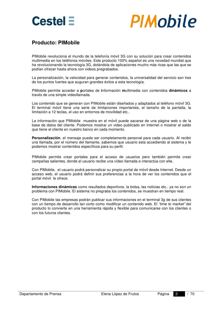 Dossier De Prensa PIMobile Slide 2