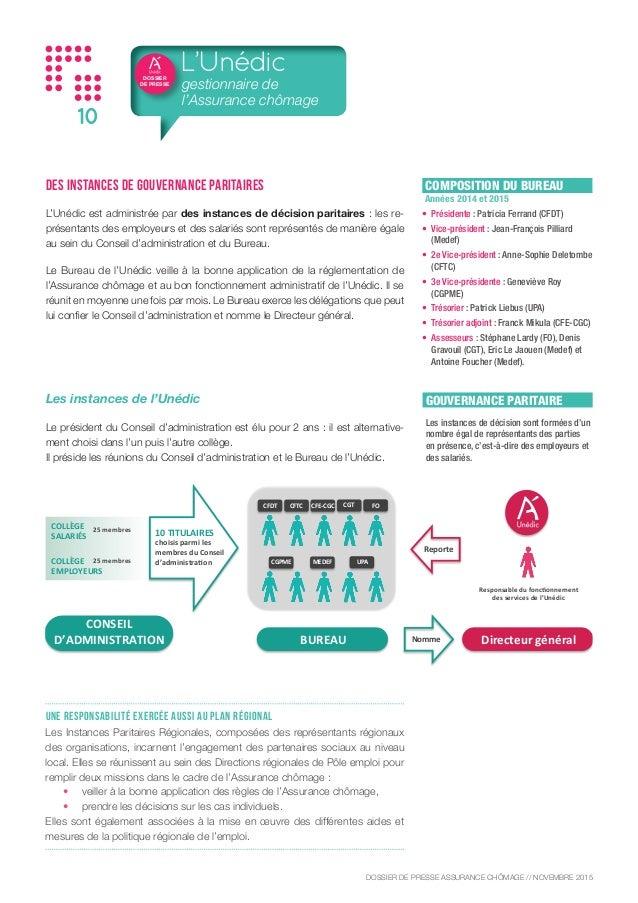 Dossier de presse de l 39 assurance ch mage for Bureau assurance emploi
