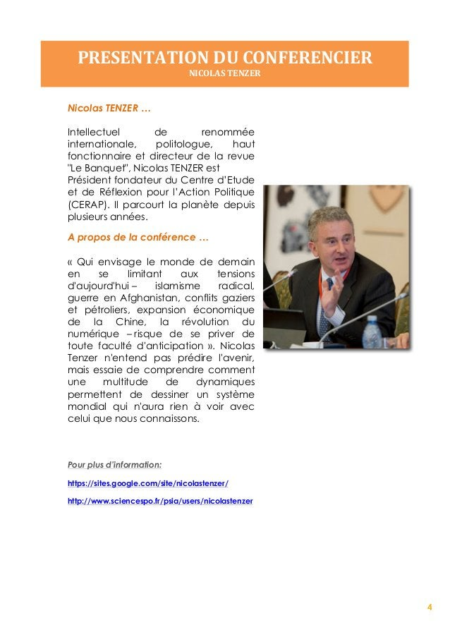 5 INTERVIEW   NICOLAS  TENZER      INNOVATION EN FRANCE: ESPRIT PUBLIC ET MARCHE INTERNATIONAL Nicolas TENZER, hau...