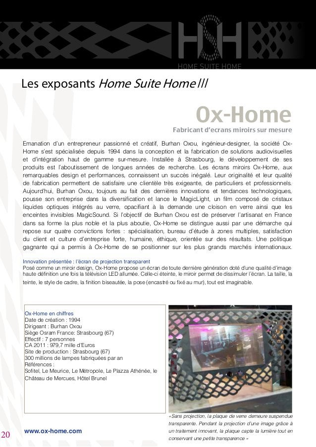 Emanation d'un entrepreneur passionné et créatif, Burhan Oxou, ingénieur-designer, la société Ox- Home s'est spécialisée d...