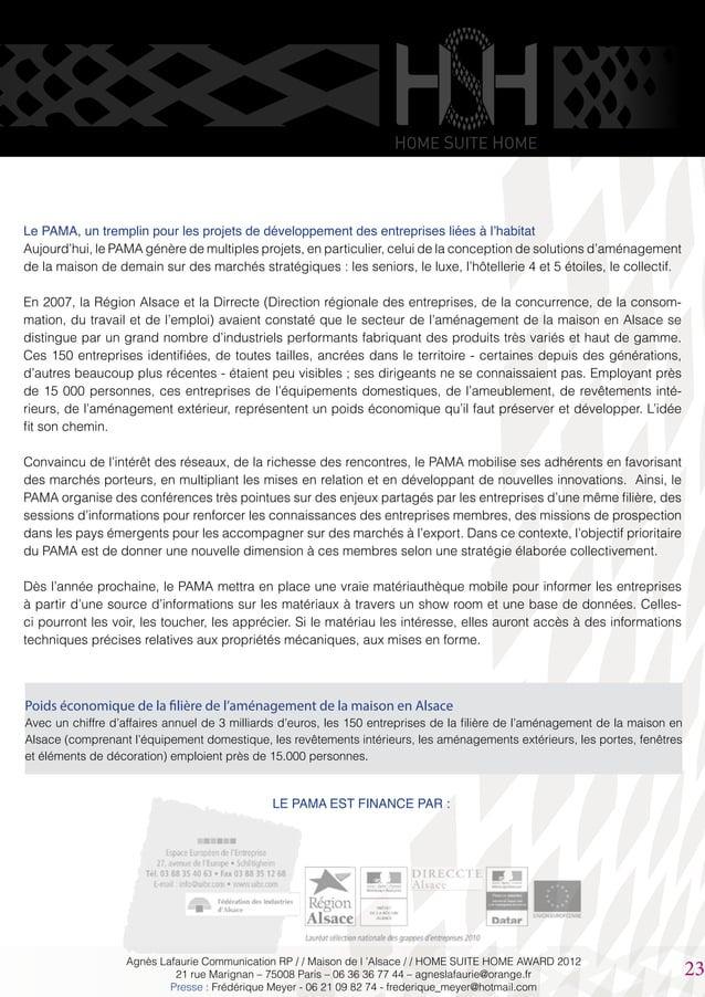 LE PAMA EST FINANCE PAR : Le PAMA, un tremplin pour les projets de développement des entreprises liées à l'habitat Aujourd...