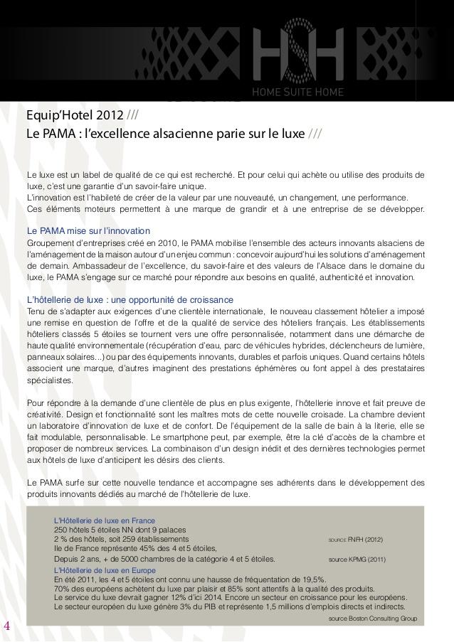 Super Dossier de presse HSH Equip'hotel 2012 TZ21