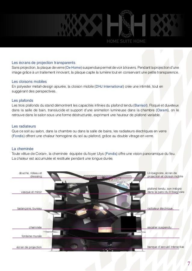 Les écrans de projection transparents Sans projection, la plaque de verre (Ox-Home) suspendue permet de voir à travers. Pe...