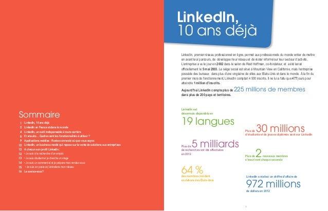 Dossier de presse - LinkedIn France - Juin 2013 Slide 2