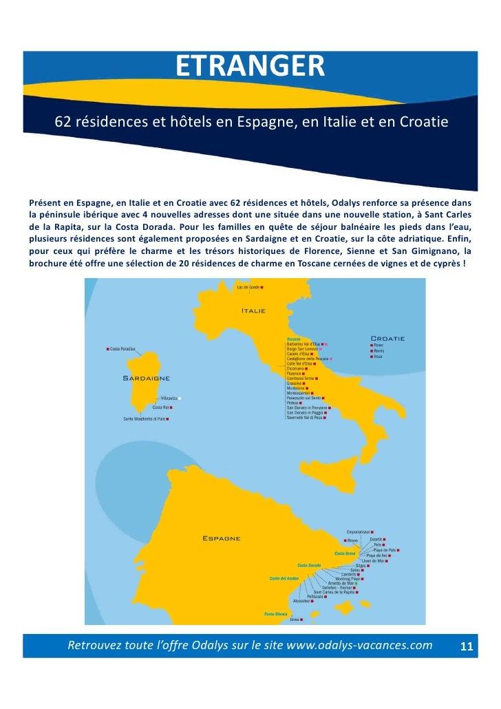 Carte Odalys Italie.Dossier De Presse Odalys Ete 2010