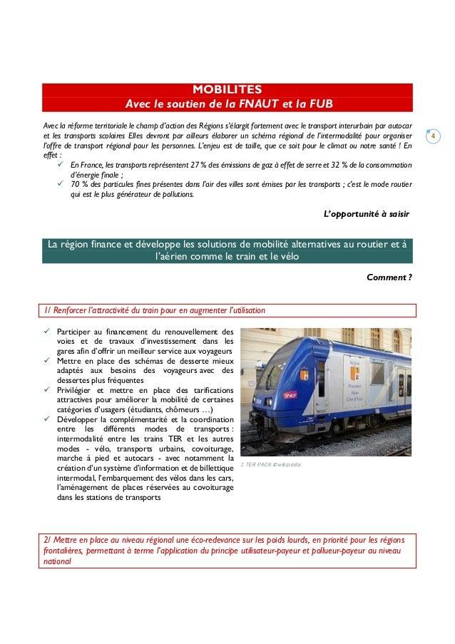4 MOBILITES Avec le soutien de la FNAUT et la FUB Avec la réforme territoriale le champ d'action des Régions s'élargit for...