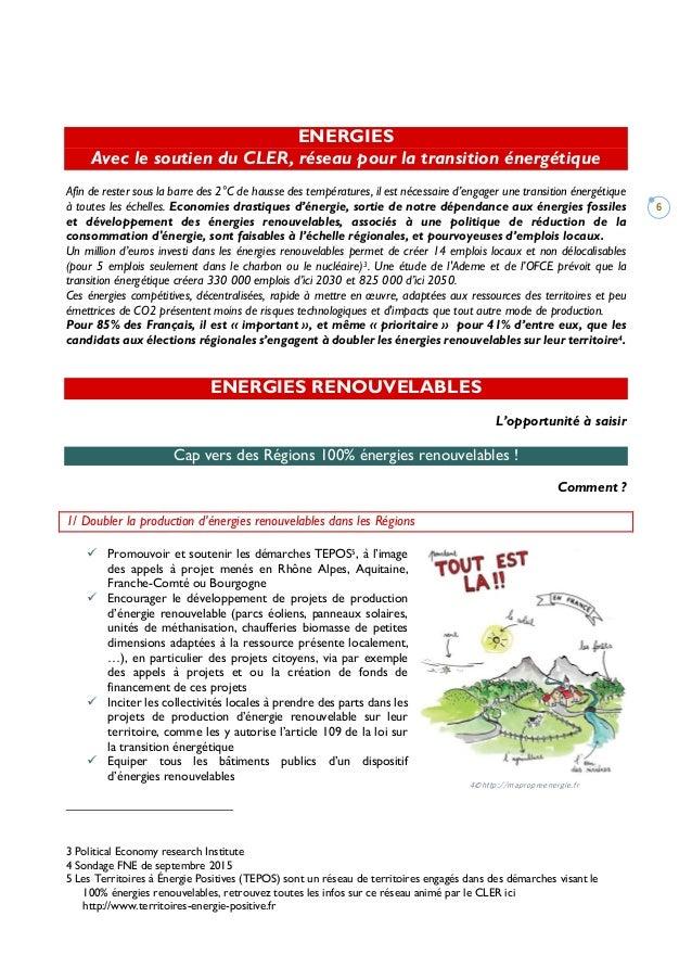 6 ENERGIES Avec le soutien du CLER, réseau pour la transition énergétique Afin de rester sous la barre des 2°C de hausse d...