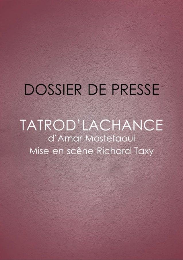 Dossier de presse Tatrod'lachance
