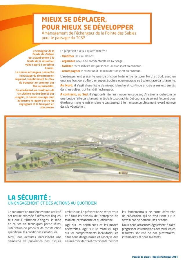 Mieux se déplacer, pour mieux se développer  Aménagement de l'échangeur de la Pointe des Sables pour le passage du TCSP L'...
