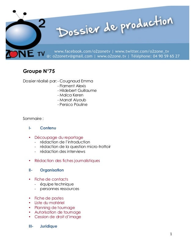 1  Groupe N°75  Dossier réalisé par: - Cougnaud Emma  - Flament Alexis  - Hildebert Guillaume  - Malca Keren  - Manat Aiyo...