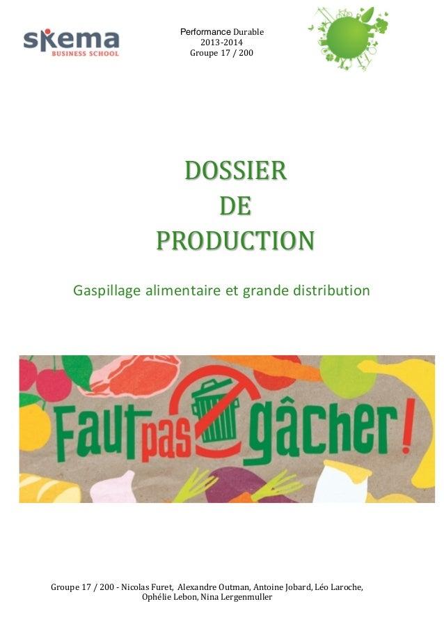 Performance  Durable   2013-‐2014   Groupe  17  /  200                    DOSSIER     DE   ...