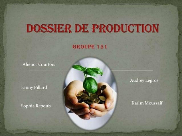 Groupe 151 Alienor Courtois Audrey Legros  Fanny Pillard  Sophia Rebouh  Karim Moussaif