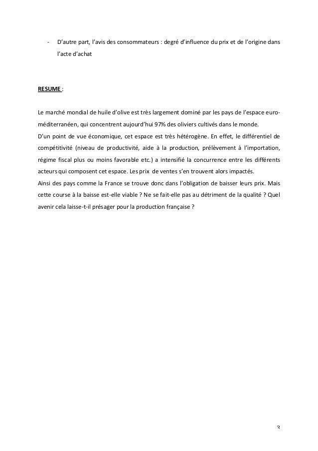 -‐ D'autre  part,  l'avis  des  consommateurs  :  degré  d'influence  du  prix  et  de  l'origine  dans  3  l'acte  d'ach...