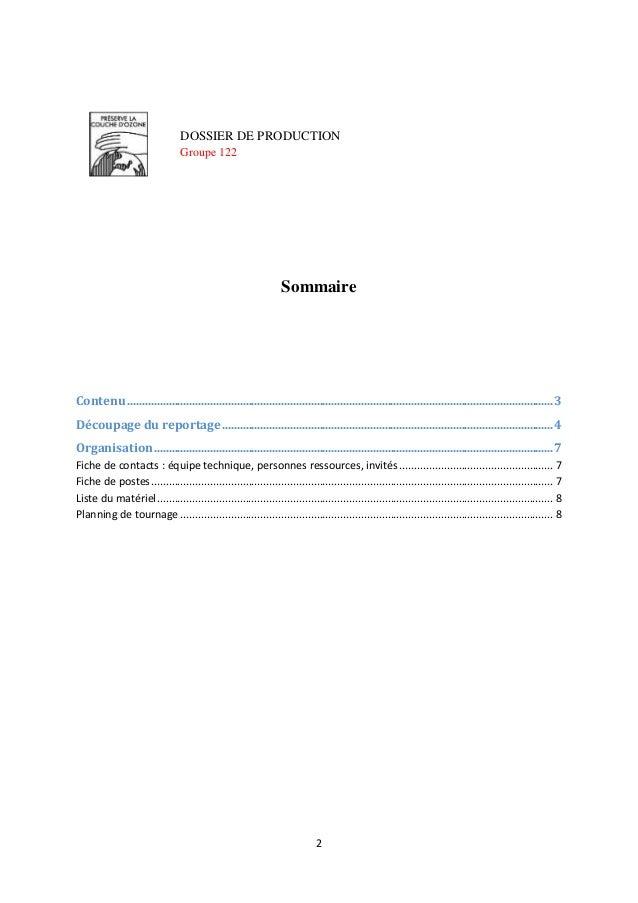 Dossier de production DK6 Slide 2