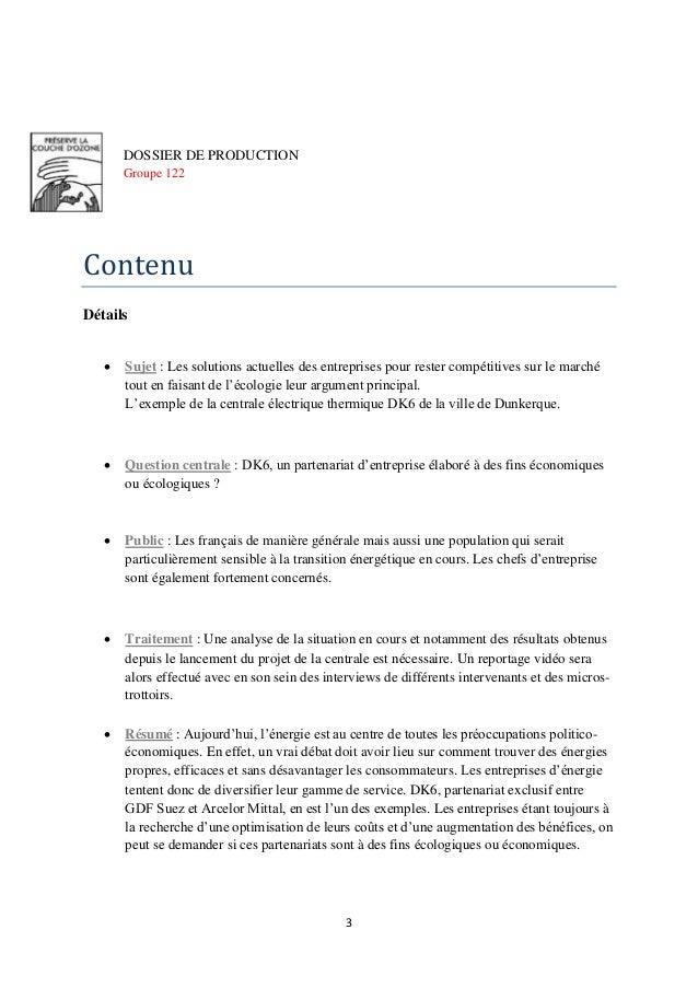 Dossier de production DK6 Slide 3