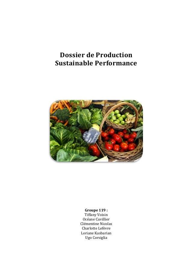 Dossier  de  Production     Sustainable  Performance                   ...