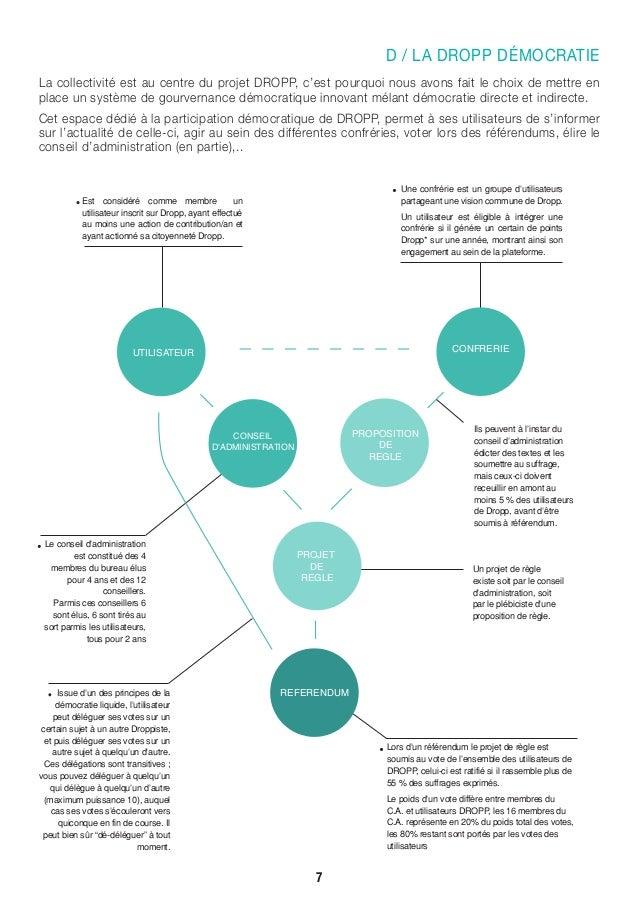 D / LA DROPP DÉMOCRATIE La collectivité est au centre du projet DROPP, c'est pourquoi nous avons fait le choix de mettre e...