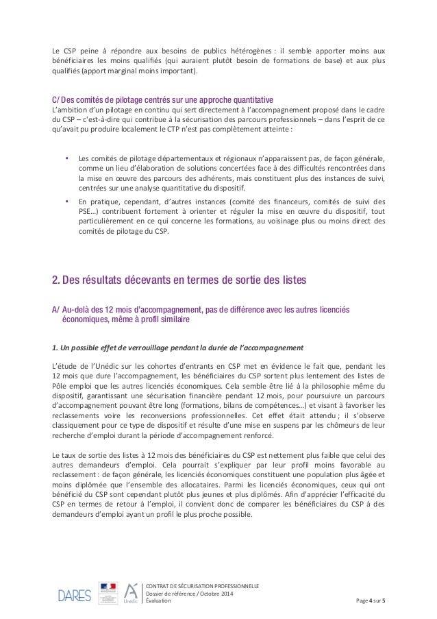 Dossier De Reference Sur Le Contrat De Securisation Professionnelle