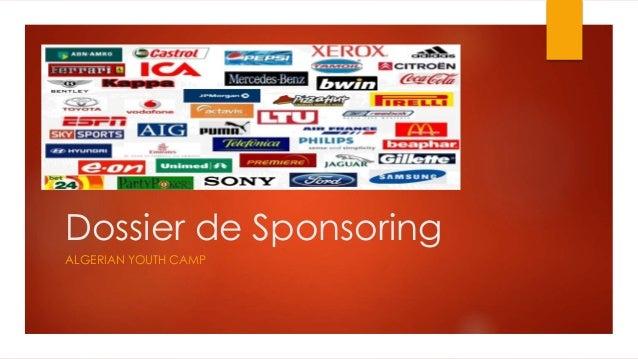 Dossier de Sponsoring  ALGERIAN YOUTH CAMP