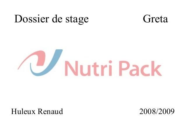 Dossier de stage Greta Huleux Renaud 2008/2009