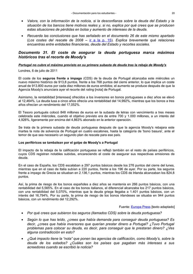 - Documentación para los estudiantes - Portugal no cubre el máximo previsto en su primera subasta de deuda tras la rebaja ...