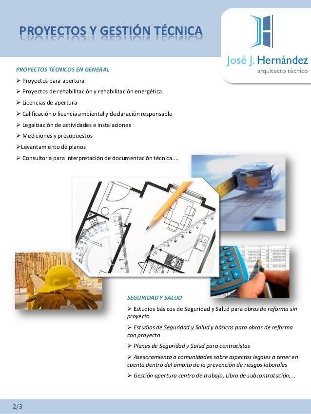 Dossier profesional de jos j hern ndez arquitecto for Diferencia entre licencia de apertura y licencia de actividad