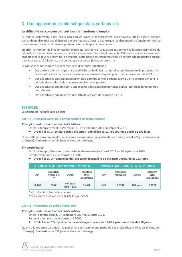 Droits Rechargeables Elargissement De L Acces Au Droit D Option
