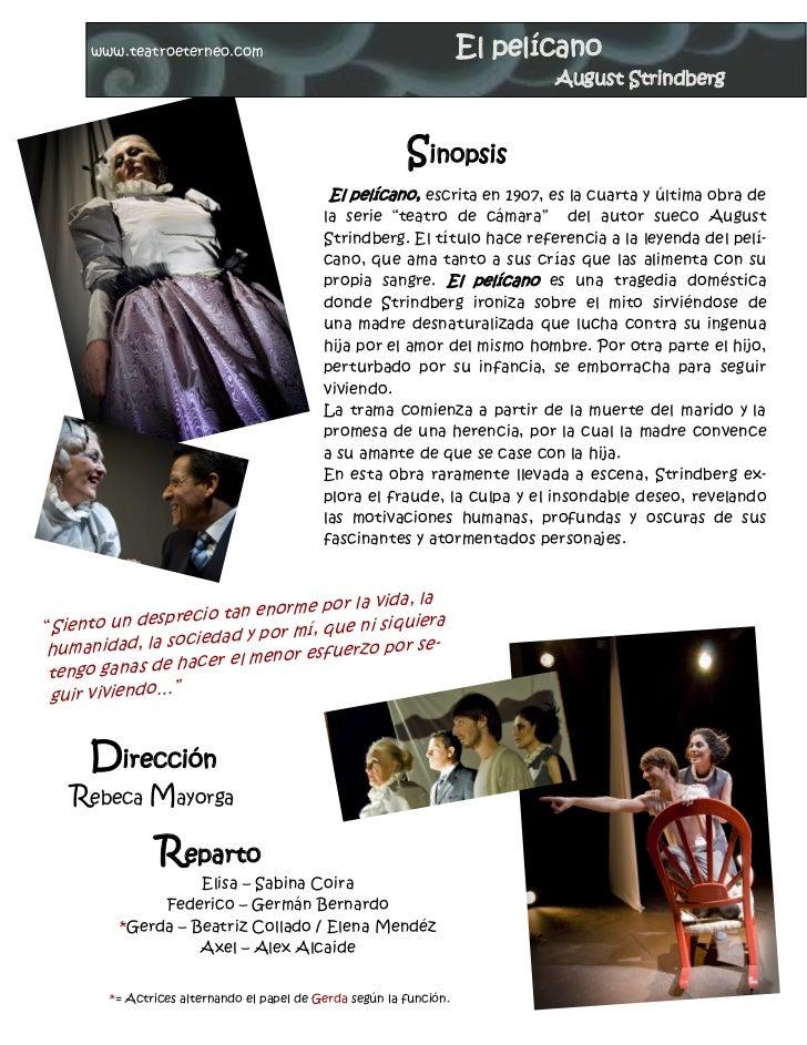 www.teatroeterneo.com                                           El pelícano                                               ...