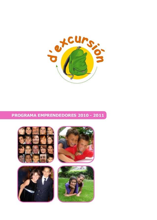 PROGRAMA EMPRENDEDORES 2010 - 2011