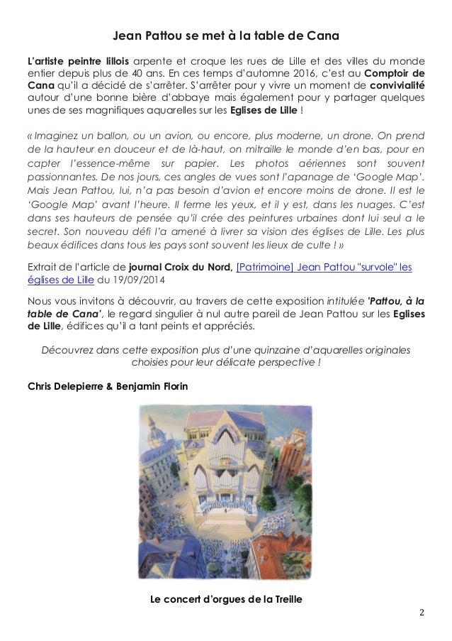 Dossier de l 39 exposition pattou la table de cana for Combien prend un peintre au m2
