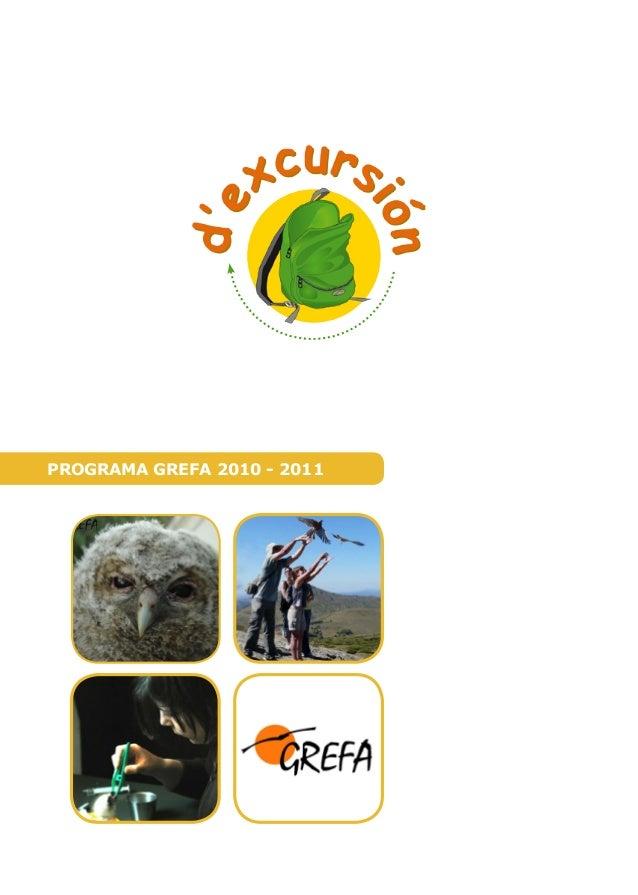 PROGRAMA GREFA 2010 - 2011