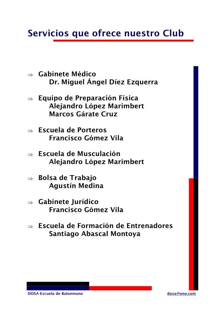 Servicios que ofrece nuestro Club        Gabinete Médico ⇒       Dr. Miguel Ángel Díez Ezquerra      Equipo de Preparación...