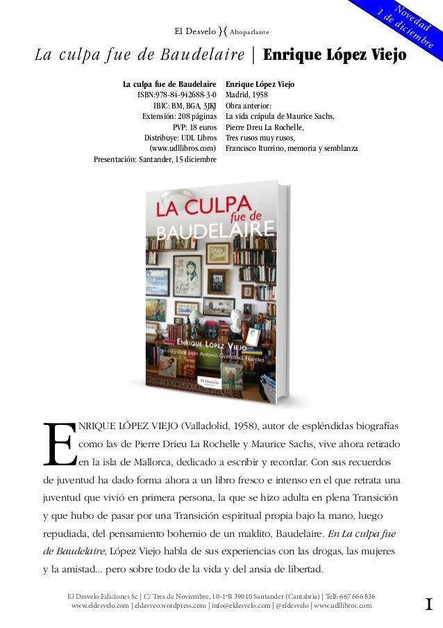 1El Desvelo Ediciones Sc | C/ Tres de Noviembre, 10-1ºB 39010 Santander (Cantabria) | Telf: 667 666 836 www.eldesvelo.com ...