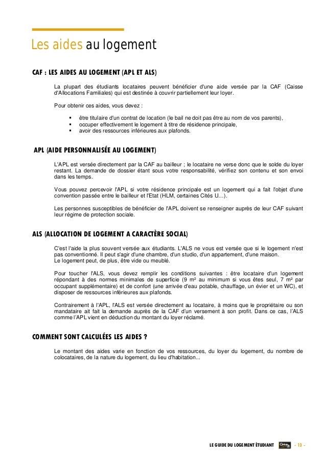 Caf Depart Logement Apl