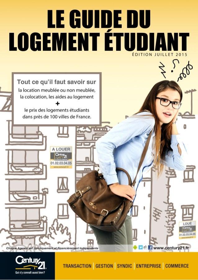 - 3 -LE GUIDE DU LOGEMENT ÉTUDIANT Sommaire        4 - Préambule 6 - Location non meublée 10 - Location meublée 1...