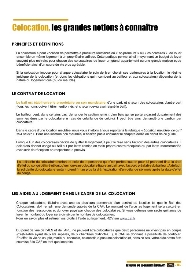 Guide Du Logement tudiant