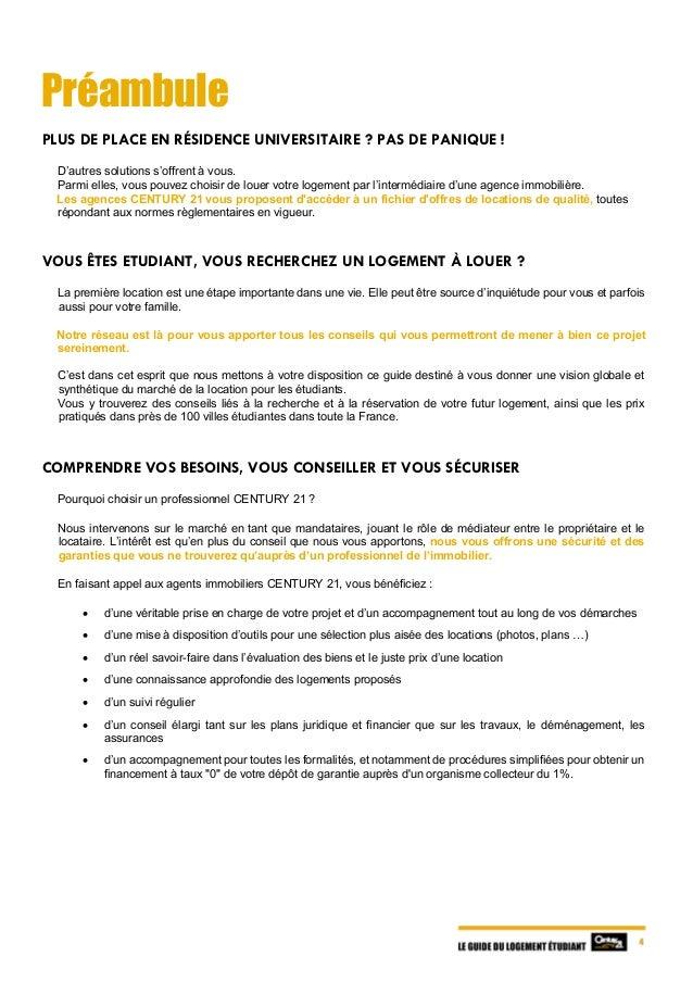 Le guide du logement tudiant 2017 for Bail location non meuble