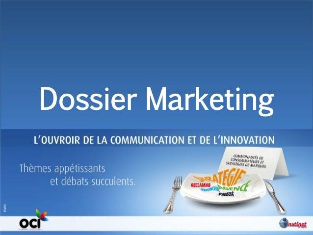 Instinct. 2012 Dossier Marketing