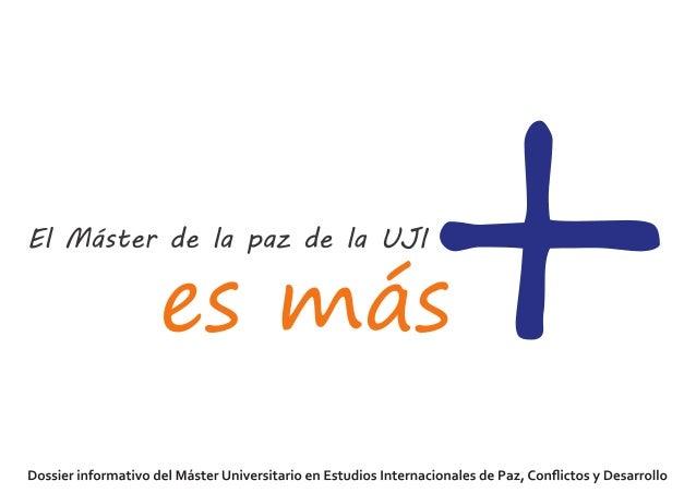 + Nuestro Máster se enmarca dentro de la Cátedra UNESCO de Filosofía para la paz y del Instituto Interuniversitario de Des...