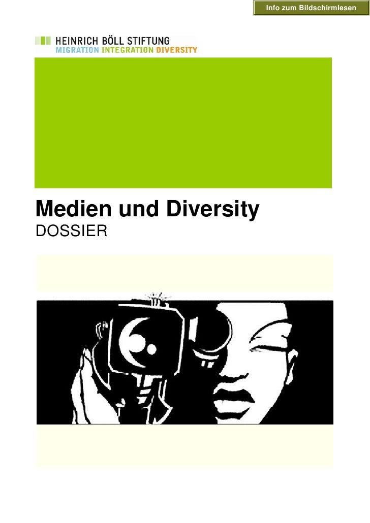 Info zum Bildschirmlesen     Medien und Diversity DOSSIER