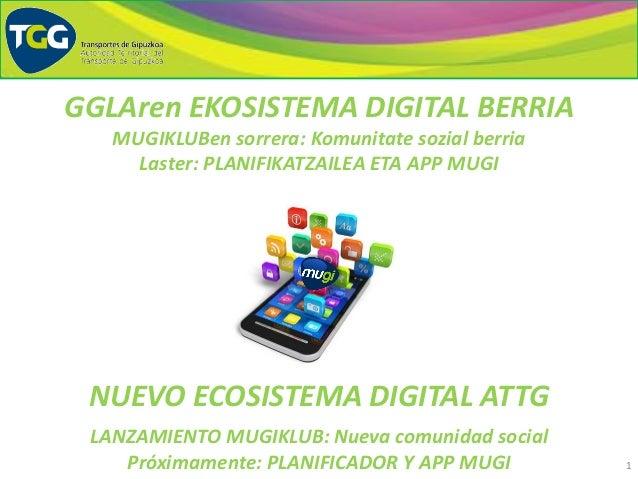 1 NUEVO ECOSISTEMA DIGITAL ATTG LANZAMIENTO MUGIKLUB: Nueva comunidad social Próximamente: PLANIFICADOR Y APP MUGI GGLAren...