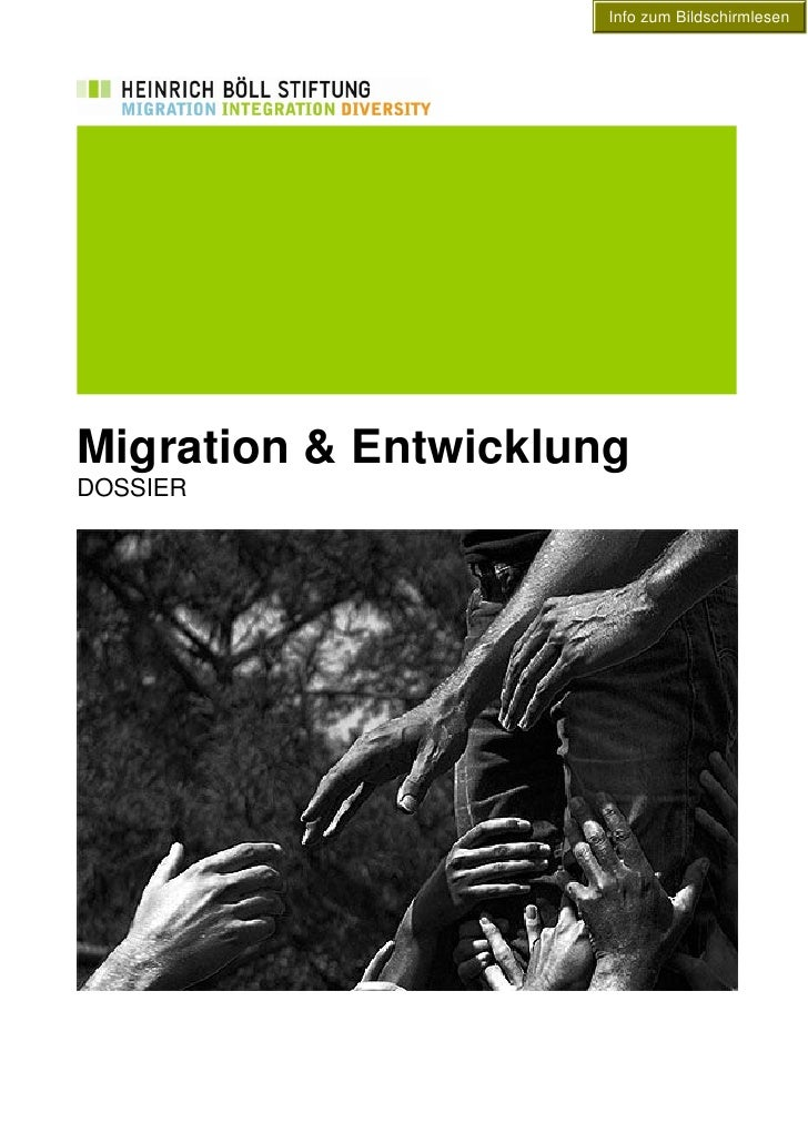 Info zum Bildschirmlesen     Migration & Entwicklung DOSSIER