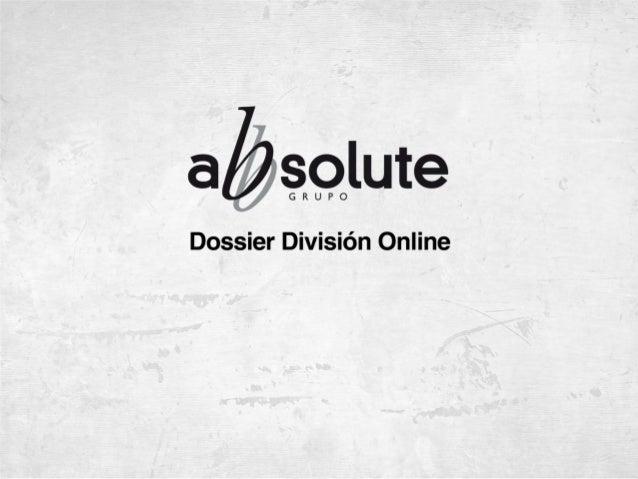Grupo Abbsolute cuenta con una división online propia, especializada en ofrecer soluciones efectivas, claras y medibles de...
