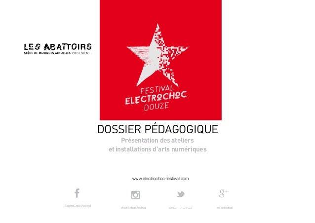 www.electrochoc-festival.com DOSSIER PÉDAGOGIQUE Présentation des ateliers et installations d'arts numériques electrochoc_...