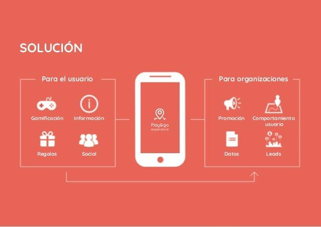 Gamificación Información Interacción El usuario podrá interaccionar con el entorno a través de juegos de realidad aumentada...