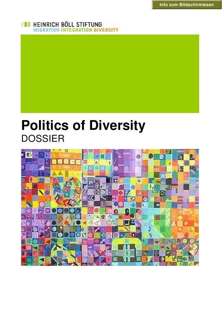 Info zum Bildschirmlesen     Politics of Diversity DOSSIER